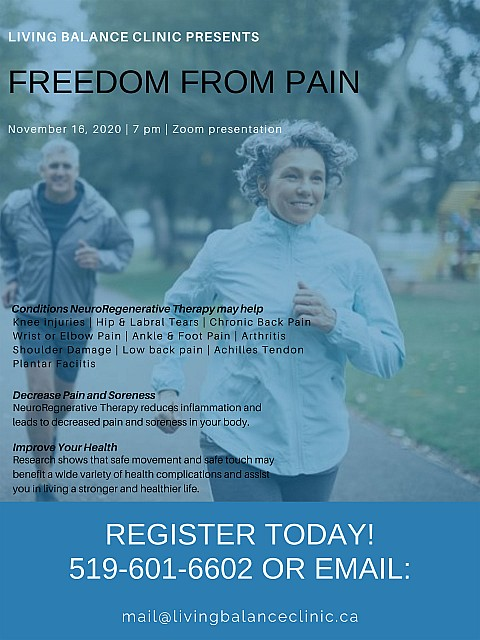 Freedom from Pain free webinar, November 16, 2020